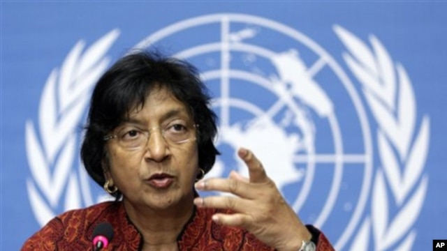 U.N. High Commissioner for Human Rights Navi Pillay (file photo) (AP)