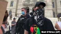 2020年6月5日羅德島普羅維登斯抗議集會。