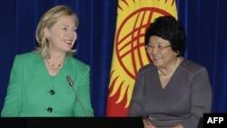 Хиллари Клинтон и Роза Отунбаева