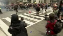 Trump Inauguration Protesters Clash With Police