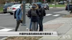 外国学生是否感到在美不受欢迎?