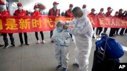 8 Nisan 2020 - Çin'in Hubei eyaletinde, salgının başlangıç noktası olarak belirlenen Wuhan'da Tianhe Uluslararası Havaalanı