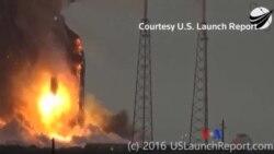 美國搭載衛星火箭爆炸