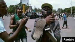 Militants de l'opposition à Kinshasa, RDC, le 19 septembre 2016.