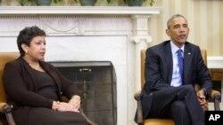 Procuradora Geral da República Loretta Lynch e Presidente Barack Obama