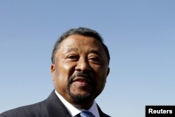 FILE - Gabon opposition leader Jean Ping.