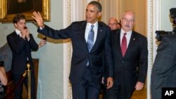 El presidente Barack Obama llega al Congreso este martes para hablar con los legisladores sobre la estrategia con Siria