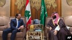 سعد حریری قبل از ترک عربستان با ولیعهد این کشور دیدار کرد.