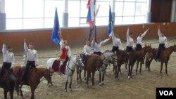 克里姆林宮騎術學校中的馬術表演