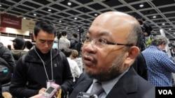 香港中文大學政治與行政學系高級講師蔡子強。(美國之音湯惠芸)