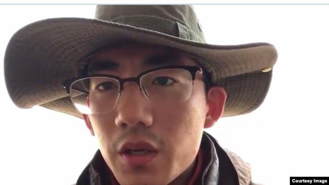 2020年3月,山东大学生张文斌上网发视频表达不同政见(网络截图)