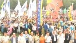 """韩国民众抗议""""韩中自由贸易协议"""""""