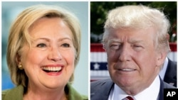 Hillary Clinton da Donald Trump