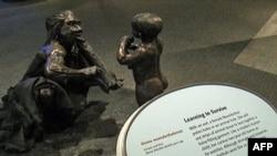 Eksponat na izložbi o poreklu čoveka u Prirodnjačkom muzeju u Vašingtonu