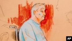 پٹس برگ فائرنگ کے مجرم رابرٹ بورز کا اسکیچ