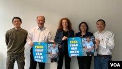 Dân biểu Margrarete Bause đã nhận bảo trợ cho nhà hoạt động Công đoàn và môi trường Hoàng Đức Bình.