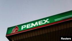 Pom bensin Pemex di Mexico City.