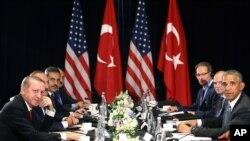 رهبران آمریکا و ترکیه در آغاز نشست دوجانبه در چین