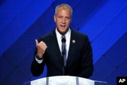 FILE - Rep. Sean Patrick Maloney, D-N.Y., speaks during the final day of the Democratic National Convention in Philadelphia, July 28, 2016.