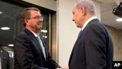 Эштон Картер встретился с Биньямином Нетаньяху. Иерусалим, Израиль. 21 июля 2015 г.