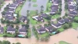 Катастрофическое наводнение в Хьюстоне - съемки с воздуха
