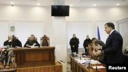 Михаил Саакашвили в на заседании суда в Киеве. 3 января 2018 г.