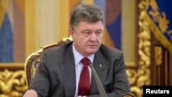 烏克蘭總統波羅申科(資料照片)