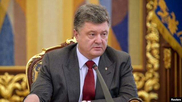 FILE - Ukrainian President Petro Poroshenko
