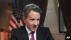 ທ່ານ Timothy Geithner ລັດຖະມົນຕີການເງິນສະຫະລັດ.