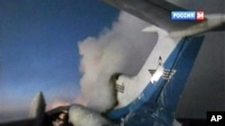 俄羅斯民航客機爆炸後殘骸