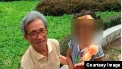 Bức hình nhân chứng Vajay (quốc tịch Ấn Độ) tố ông Nguyễn Khắc Thủy có hành vi dâm ô bé gái ở chung cư. (Kenh14)