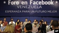 Durante 45 minutos, Capriles se refirió temas como empleo y seguridad.