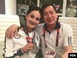 美国奥运体操教练梁皓泉、张建华夫妇(courtesy photo)