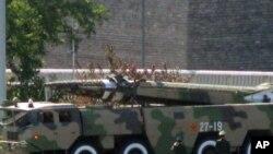 參加中國國慶閱兵儀式的導彈(資料照片)