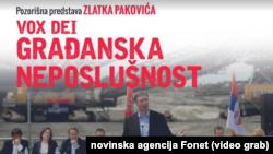 """Plakat za predstavu, """"Vox Dei - građanska neposlušnost"""" Zlatka Pakovića, Foto: official publication"""