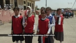 With IS Gone, Mosul Schools Reopen in Process That Could Take Months