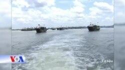 'Tàu vũ trang hộ tống tàu cá Trung Quốc ở biển Đông'