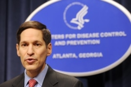 FILE - Dr. Thomas R. Frieden, is shown at the agency's headquarters, Sept. 3, 2009.