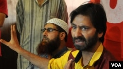 جموں کشمیر لبریشن فرںٹ کے لیڈر محمد یاسین ملک، فائل فوٹو