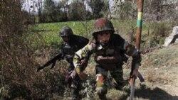 سربازان ارتش هند، در نبرد با ستیزه گران در سرینگر