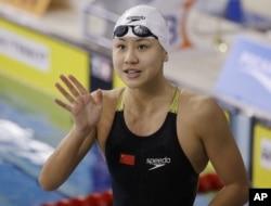 中国女子游泳运动员陈欣怡(资料照片) 。陈欣怡在药检中被查出呈阳性,被确认为兴奋剂违规而取消里约奥运会参赛资格。2016年12月10日,国际泳联开出罚单,她被禁赛两年。