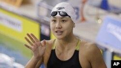 中国女子游泳运动员陈欣怡(资料照片)