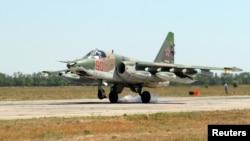 ႐ုရွားေလတပ္ရဲ႕ Su-25 ဂ်က္တုိက္ေလယာဥ္။ (ဇူလုိင္ ၄၊ ၂၀၁၈)