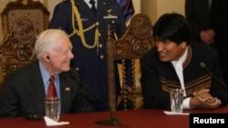 No es la primera vez que Carter y Morales se reunen de forma amistosa. En 2009, el ex presidente estadounidense visitó al mandatario de Bolivia, en La Paz.