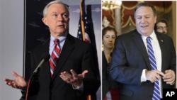 El senador Jeff Sessions, es uno de los aliados más cercanos y habituales de Trump, y Mike Pompeo investigó a Hillary Clinton.