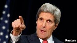 ທ່ານ John Kerry ລັດຖະມົນຕີຕ່າງປະເທດສະຫະລັດ.
