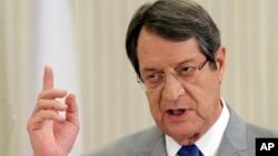 Predsednik Kipra Nikos Anastasijadis (Foto: AP/Petros Karadjias)