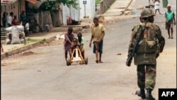 ECOMOG soldier in Liberia (file photo from 1996)