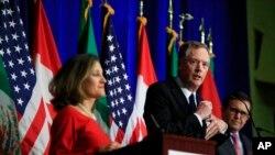 Ngoại trưởng Canada Chrystia Freeland và Đại diện Thương mại Hoa Kỳ Robert Lighthizer.