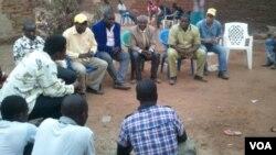 Familiares de garimpeiro morto na Lunda, angola, Agosto de 2014